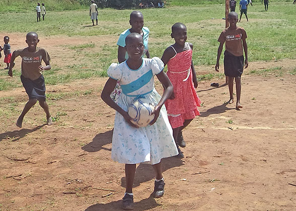 The girls played netball during the Family Fun Weekend.