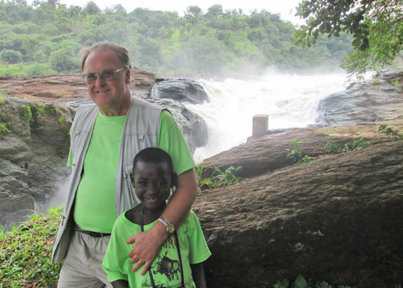 Bill and Elisha at Murchison Falls.
