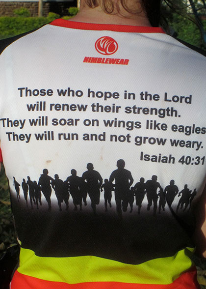 Back of Jaimee's Shirt - Isaiah 40:31