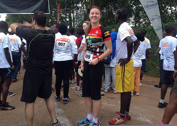 Jaimee Following 10 km Marathon in Kampamla