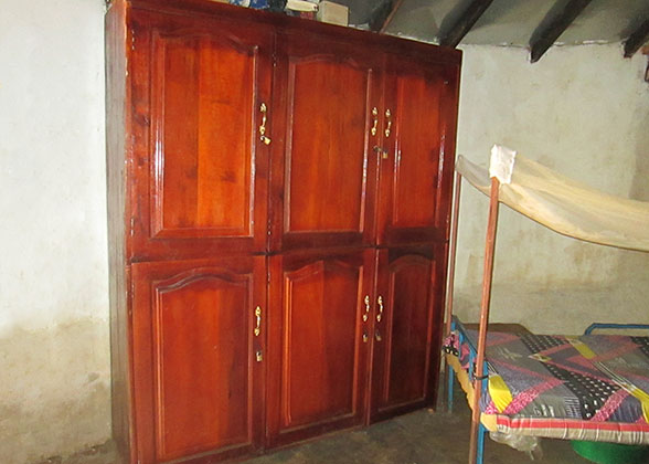 Cabinet Installed in Sleeping Hut