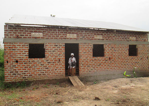 New Home Built for Widow by Lubumba Community Church