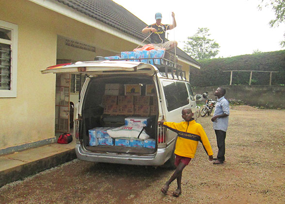 New Van Transporting Food for the Children