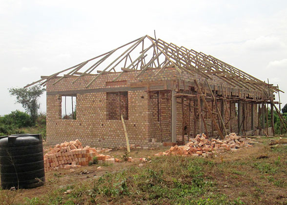 New Administration Block with Roof Framework