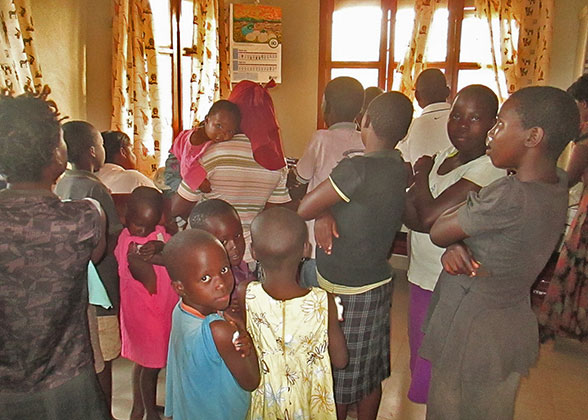 Children Receiving Yellow Fever Vaccinations in the EWCV Clinic