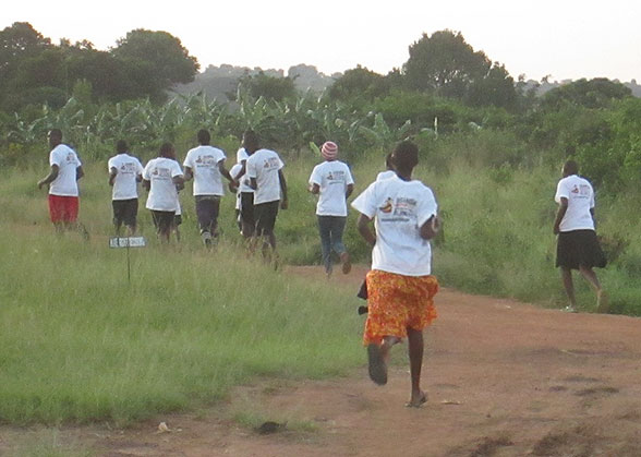 The students run to bring glory to God and to raise money for their education.