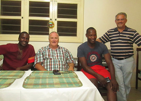 Four Friends - Pastor Allan, Director Bill, Carpenter Paul, and Dr. Harris