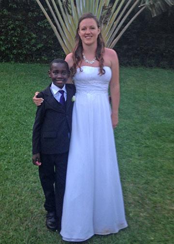 Bride Jaimee with Elisha