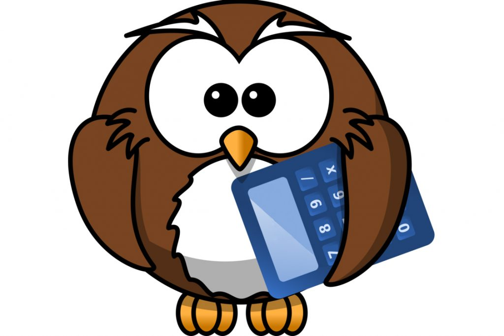 46 kisscc0 barn owl cartoon drawing owl with calculator 5b3dbea1c63473