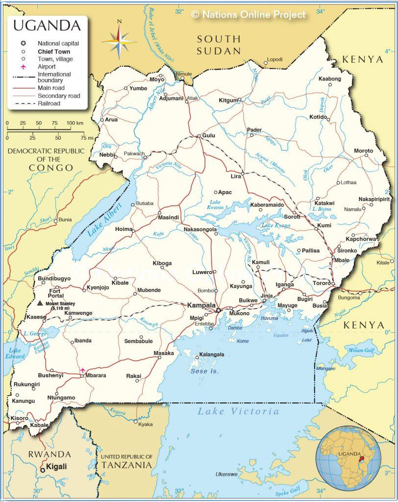 55 uganda political map R2