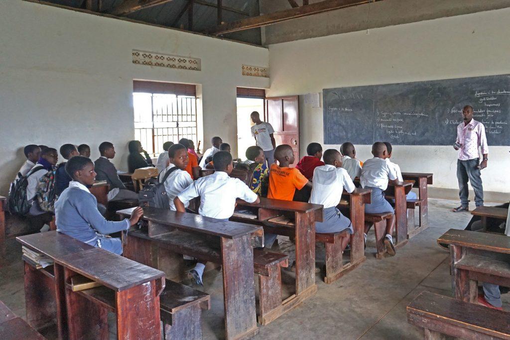 64  High  School teacher teaching