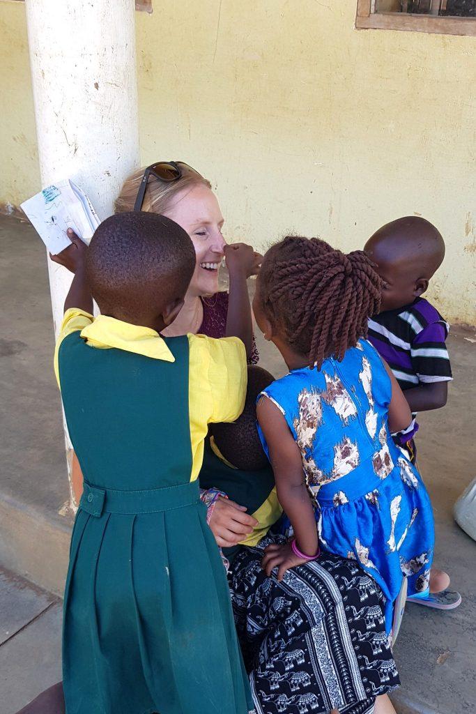 80  Visit or  Volunteer  Amelie with kids
