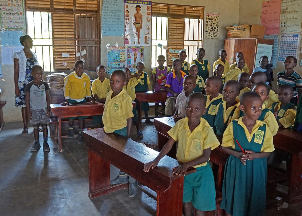 Teacher and Twenty-Eight Students in their Primary Classroom at EWCV's Beth Pipe School