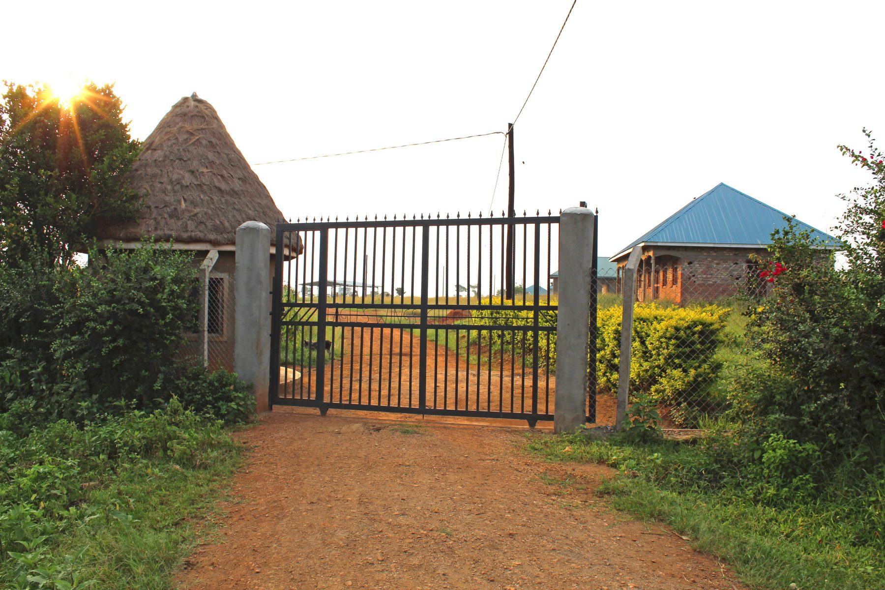 EWCV's New Metal Entry Gate with General Administration Building on the Right