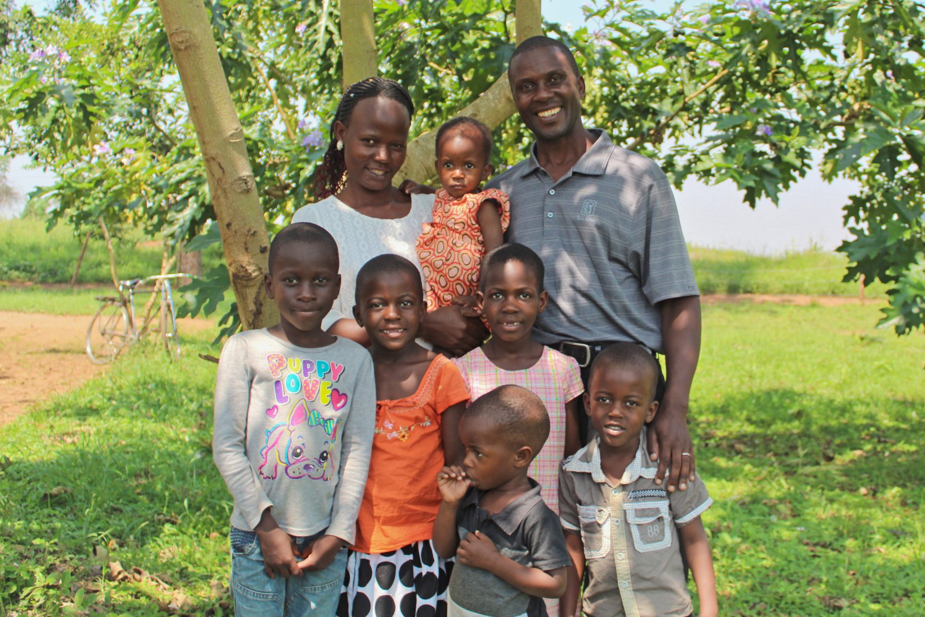 Pastor Allan with his wife, Harriet, and their six beautiful children.